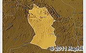 Physical Map of Kassanda, darken