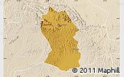 Physical Map of Kassanda, lighten