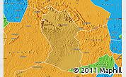Physical Map of Kassanda, political outside