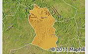 Physical Map of Kassanda, satellite outside