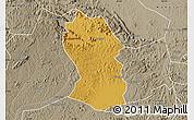 Physical Map of Kassanda, semi-desaturated