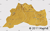 Physical Map of Mubende, cropped outside