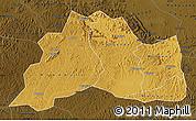 Physical Map of Mubende, darken
