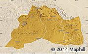 Physical Map of Mubende, lighten