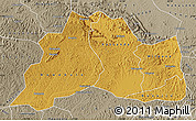 Physical Map of Mubende, semi-desaturated