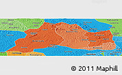 Political Shades Panoramic Map of Mubende