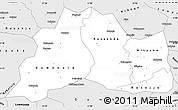 Silver Style Simple Map of Mubende