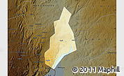 Physical Map of Jonam, darken