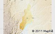 Physical Map of Jonam, lighten