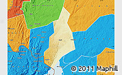 Physical Map of Jonam, political outside