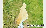 Physical Map of Jonam, satellite outside