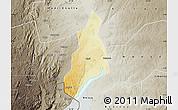 Physical Map of Jonam, semi-desaturated