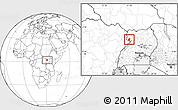 Blank Location Map of Padyere