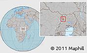 Gray Location Map of Padyere, hill shading