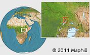Satellite Location Map of Padyere
