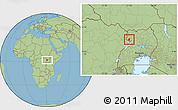 Savanna Style Location Map of Padyere
