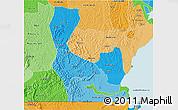 Political Shades 3D Map of Rakai