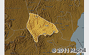 Physical Map of Kooki, darken