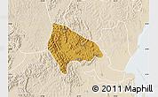 Physical Map of Kooki, lighten