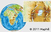 Physical Location Map of Rakai