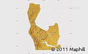 Physical Map of Rakai, cropped outside