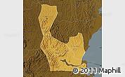 Physical Map of Rakai, darken