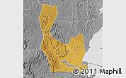 Physical Map of Rakai, desaturated