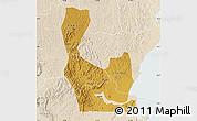 Physical Map of Rakai, lighten