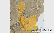 Physical Map of Rakai, semi-desaturated