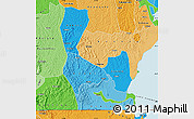 Political Shades Map of Rakai