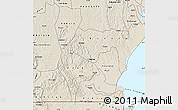 Shaded Relief Map of Rakai