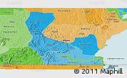 Political Shades Panoramic Map of Rakai
