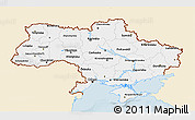 Classic Style 3D Map of Ukraine, single color outside