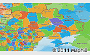 Political 3D Map of Ukraine
