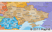 Political Shades 3D Map of Ukraine