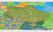 Satellite 3D Map of Ukraine, political outside, satellite sea