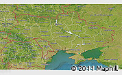 Satellite 3D Map of Ukraine