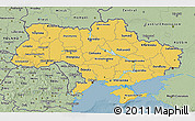Savanna Style 3D Map of Ukraine