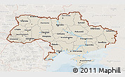 Shaded Relief 3D Map of Ukraine, lighten