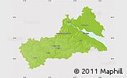 Physical Map of Cerkas'ka, cropped outside