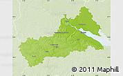 Physical Map of Cerkas'ka, lighten