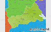 Physical Map of Cerkas'ka, political outside