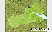 Physical Map of Cerkas'ka, satellite outside