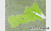 Physical Map of Cerkas'ka, semi-desaturated