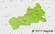 Physical Map of Cerkas'ka, single color outside