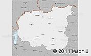 Gray 3D Map of Chernihivs'ka