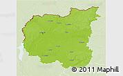 Physical 3D Map of Chernihivs'ka, lighten