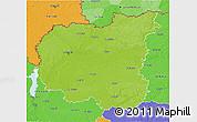 Physical 3D Map of Chernihivs'ka, political outside
