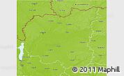 Physical 3D Map of Chernihivs'ka