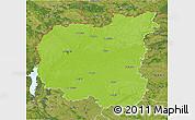 Physical 3D Map of Chernihivs'ka, satellite outside